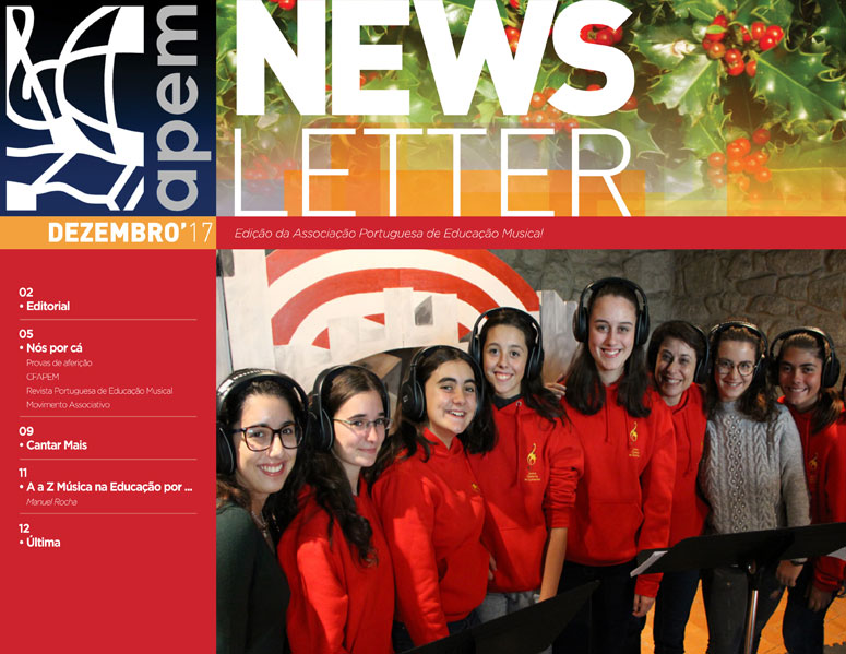 Newsletter de dezembro da APEM
