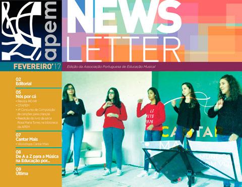 Newsletter de fevereiro da APEM