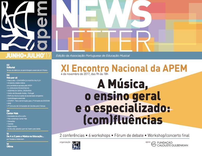 Newsletter de junho/julho da APEM