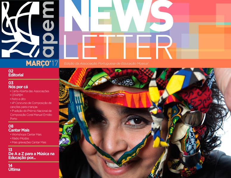 Newsletter de março da APEM