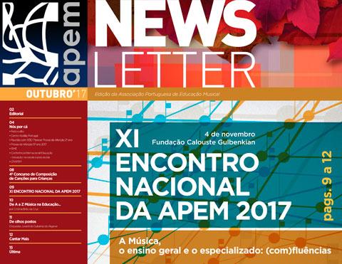 Newsletter de outubro da APEM