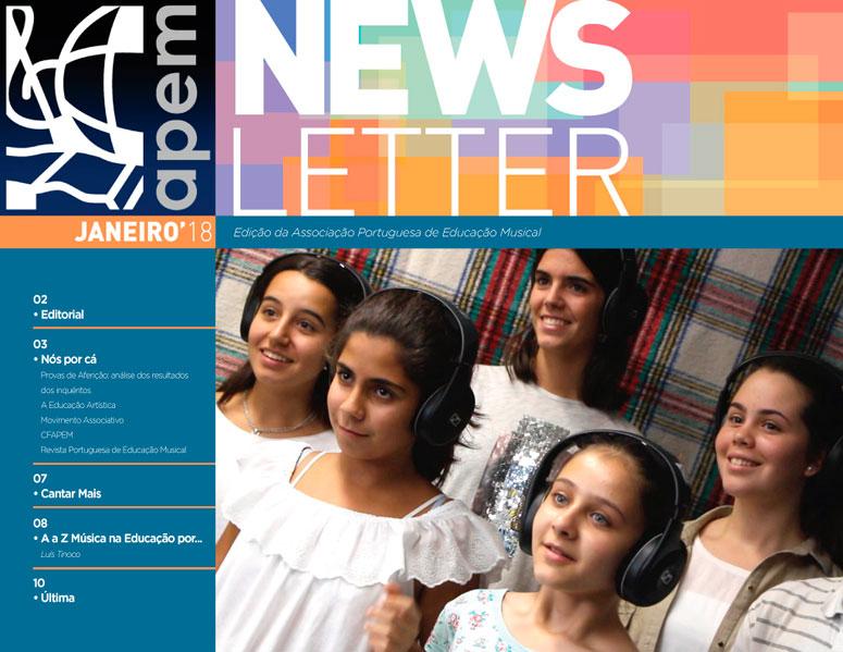 Newsletter de janeiro da APEM